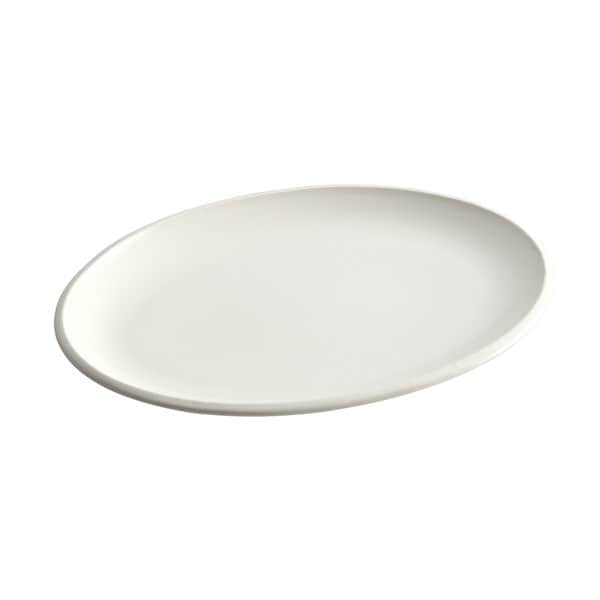 Rachael Ray Stoneware Rise White 13-Inch Oval Platter