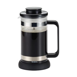 BonJour Coffee and Tea 8-cup Black Riviera French Press with Coaster and Scoop