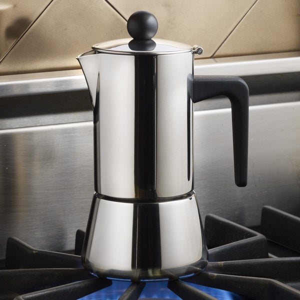 Shop Bonjour Coffee Stainless Steel 4 Cup Stovetop Espresso Maker