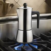 BonJour Coffee Stainless Steel 6-cup Stovetop Espresso Maker