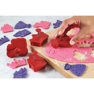 Cake Boss Decorating Tools Red Princess 4-piece Fondant Press Set