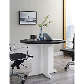 Ameriwood Home Pursuit White Round Table