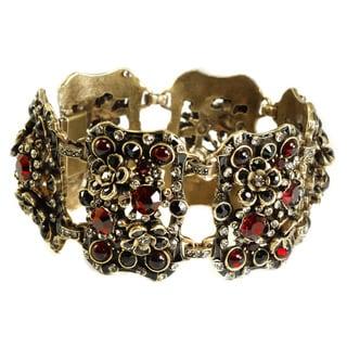 Sweet Romance 1960s Crystal Garden Bracelet