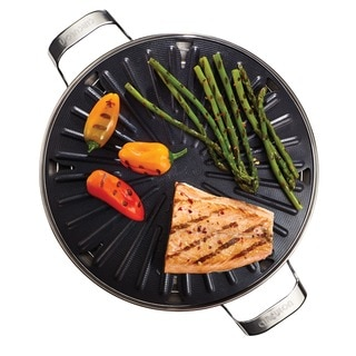 Circulon 12-inch Round Hard-anodized Non-stick Stovetop Grill with Accessories