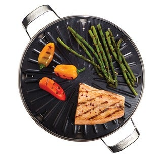 circulon 12inch round nonstick stovetop grill with accessories