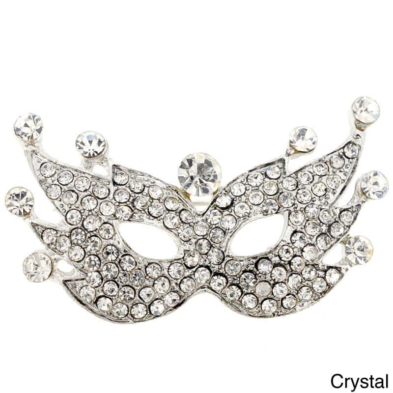 Crystal Masquerade Mask Pin, Adult Unisex, Purple