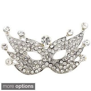 Crystal Masquerade Mask Pin