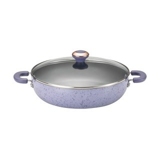 Paula Deen Signature Porcelain Nonstick 12-inch Lavender Speckle Covered Chicken Fryer