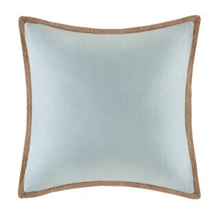Madison Park Linen with Jute Trim Square or Oblong Down Fill Pillows (More options available)
