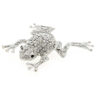 Silver Frog Pin Animal Pin Brooch