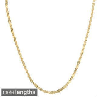 Fremada 18k Yellow Gold Over Sterling Silver Heart Pailette Necklace (18-30 inch)