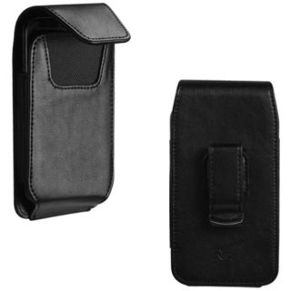 INSTEN Black Vertical Pouch for Sharp/ Samsung Motorola/ LG/ Kyocera