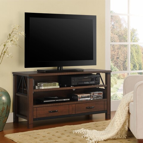 Ameriwood Home Buchannan Ridge 50-inch Dark Cherry TV Stand