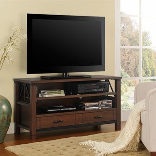 Ameriwood Home Buchannan Ridge 50-inch Dark Cherry TV Stand