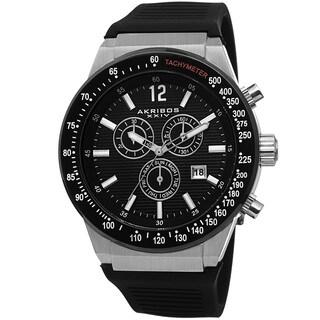Akribos XIV Men's Swiss Quartz Chronograph Silver-Tone Strap Watch with FREE GIFT|https://ak1.ostkcdn.com/images/products/8874985/Akribos-XIV-Mens-Swiss-Quartz-Chronograph-Silicone-Strap-Watch-P16099591.jpg?_ostk_perf_=percv&impolicy=medium