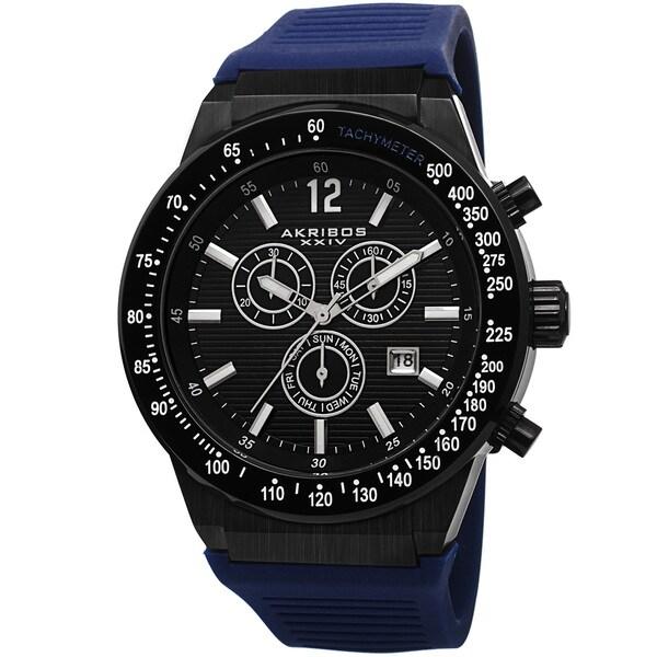 Akribos XIV Men's Swiss Quartz Chronograph Blue Strap Watch