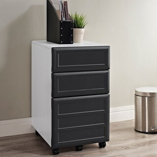 Ameriwood Home Pursuit White Mobile Vertical File Cabinet