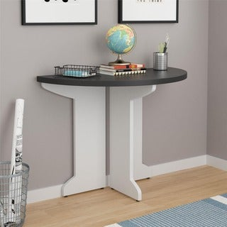 Ameriwood Home Pursuit White Peninsula Desk