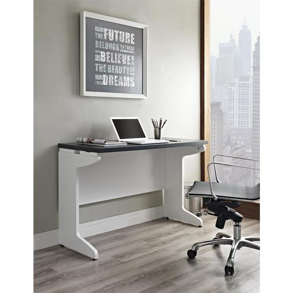 Ameriwood Home Pursuit White Bridge/ Work Desk