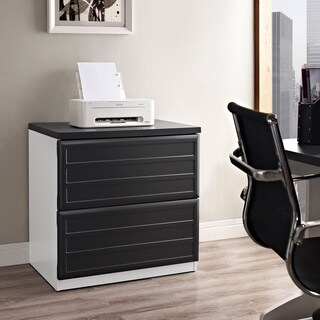 Amerwiood Home Pursuit White/ Grey Lateral File Cabinet