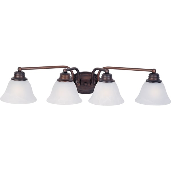 Bathroom Sconces Overstock maxim malaga oil-rubbed bronze 4-light bath vanity sconce - free