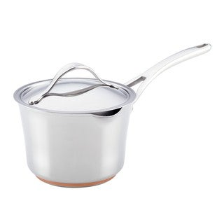 Anolon Nouvelle Copper Stainless Steel 3 1/2-quart Covered Straining Saucepan