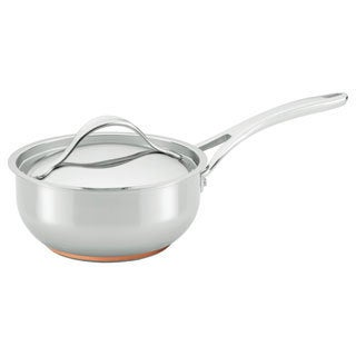 Anolon Nouvelle Copper Stainless Steel 2 1/2-quart Covered Saucier