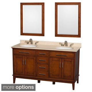 Wyndham Collection Hatton Light Chestnut 60-inch Double Vanity