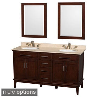 Wyndham Collection Hatton Dark Chestnut 60-inch Double Vanity