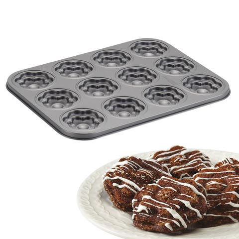 Cake Boss Novelty Nonstick Bakeware 12-Cup Flower Molded Cookie Pan