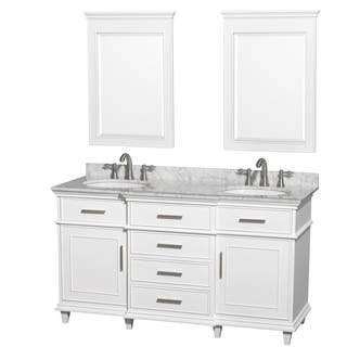 white vanity double sink. Wyndham Collection Berkeley White 60 inch Double Vanity Size Vanities Bathroom  Cabinets For