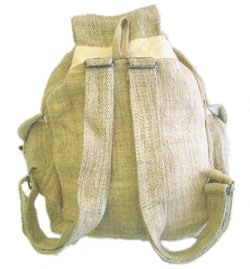 Large Hemp Backpack (Nepal) - Thumbnail 2