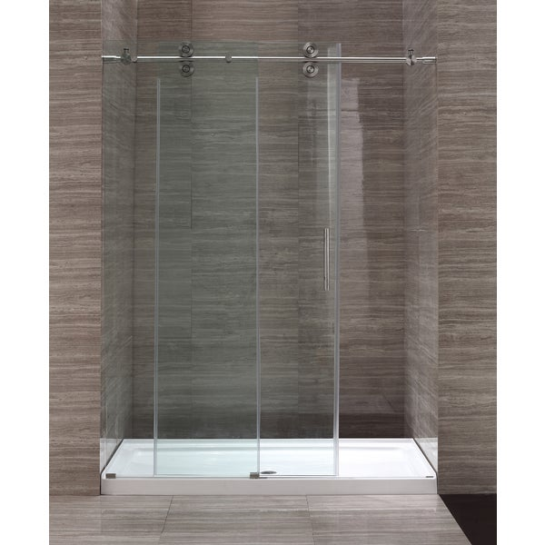 Ove Decors 60 Inch Glass Shower Enclosure With Acrylic