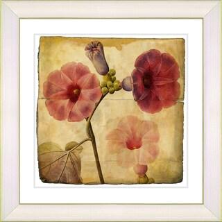 Zhee Singer 'Vintage Botanical No 017' Antiqued Framed Fine Art Print