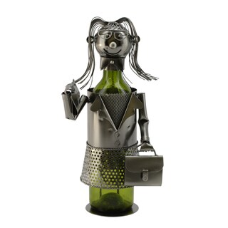 WineBodies Business Lady Metal Wine Bottle Holder