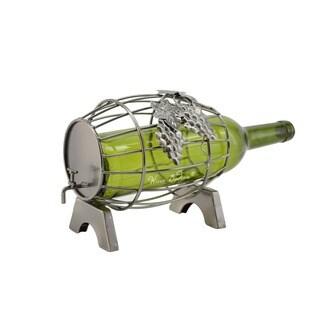 WineBodies Wine Barrel Metal Wine Bottle Holder