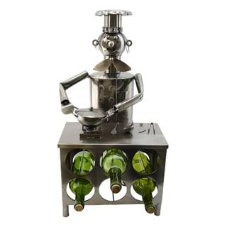 WineBodies Chef in Kitchen Metal Wine Bottle Holder
