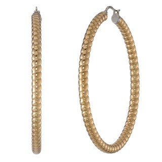 Goldtone Stainless Steel Hoop Earrings