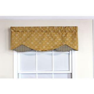 Bee de Lys Gold Petite Window Valance