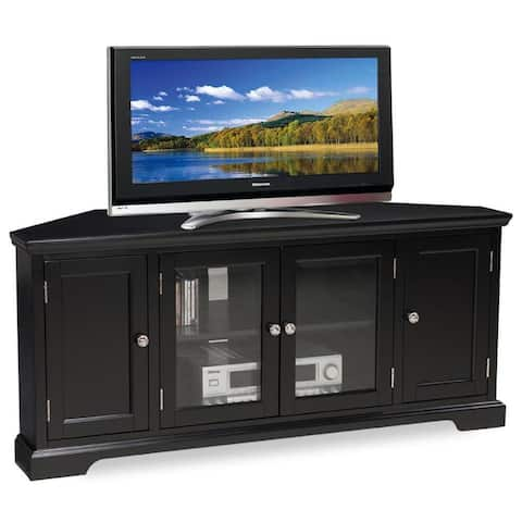Slate Black Hardwood 60-inch Corner TV Console - n/a