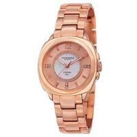 Akribos XXIV Women's Swiss Quartz Stainless Steel Rose-Tone Bracelet Watch