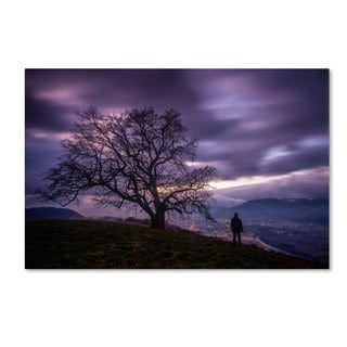 Mathieu Rivrin  'The Tree of Love Grenoble' Canvas Art