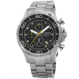 Akribos XXIV Men's Chronograph Stainless Steel Silver-Tone Bracelet Watch
