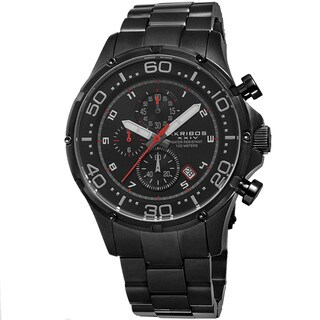 Link to Akribos XXIV Men's Chronograph Stainless Steel Black Bracelet Watch Similar Items in Men's Watches