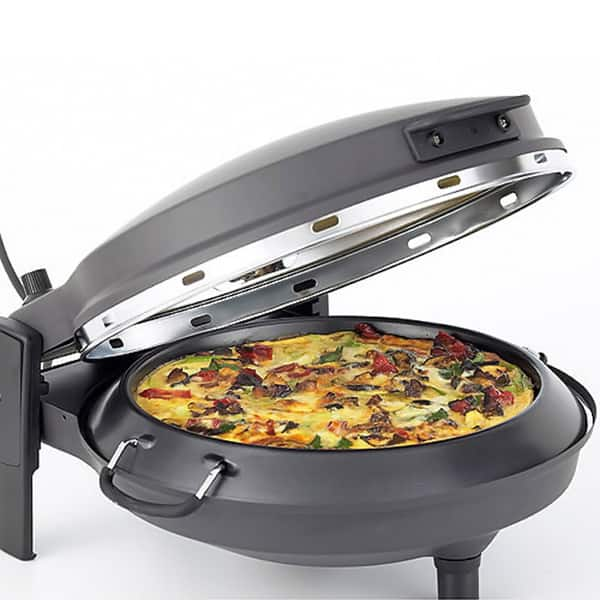 New Wave Matte Black Countertop Stone Bake Pizza Oven Overstock 8875913