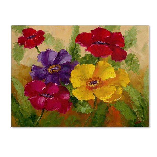 Rio 'Flowers' Canvas Art