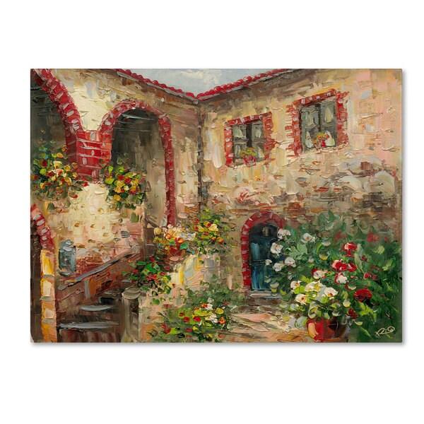Shop Rio Tuscany Courtyard Canvas Art Free Shipping