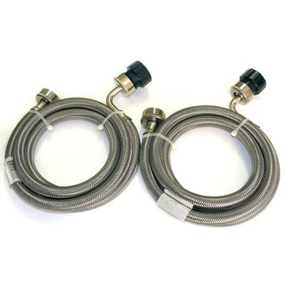 Stainless Steel 5-foot Braided Hoses (Set of 2)