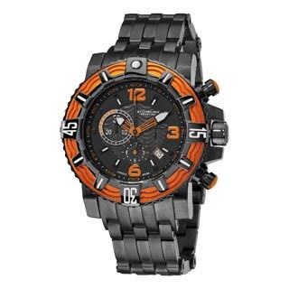 Stuhrling Original Men's Marine Pro Swiss Quartz Stainlees Steel Bracelet Watch
