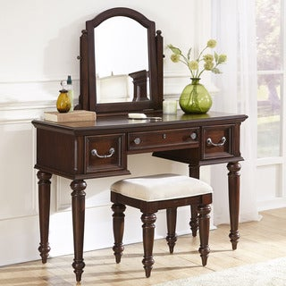 Home Styles Colonial Classic Vanity and Bench